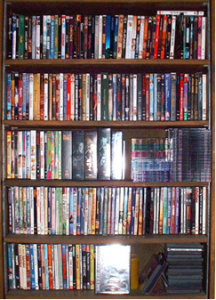 extensive dvd selection cases