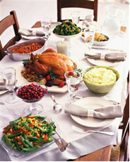 green holiday meal dinner selection eco-friendly