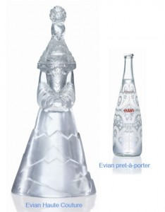 Examples of custom, limited edition, water bottles by Evain designed for different audiences.