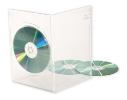 stock slim clear dvd cases