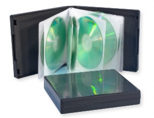 stock multi-disc 16 cd dvd case