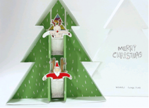 creative tea bags christmas tree santa
