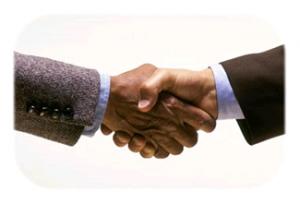 crm customer relationship marketing networking handshake