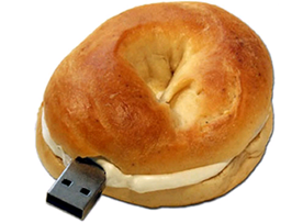 creative usb flash drive bagel