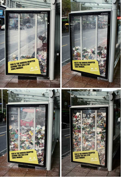 eco-friendly anti-litter ad campaign trash