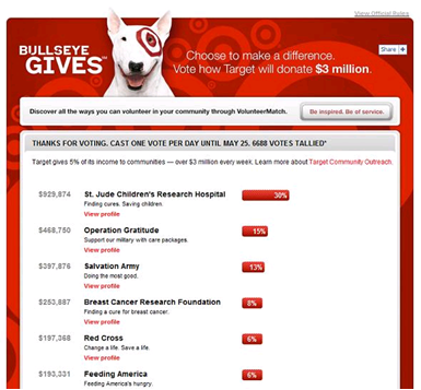 target bulleye gives cause marketing campaign