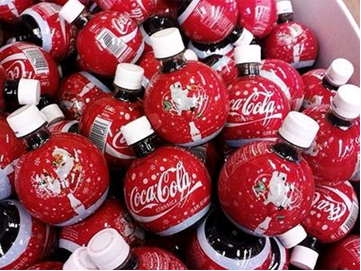 coca cola holiday bottles look like ornaments