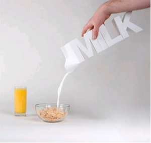Innovative milk carton.