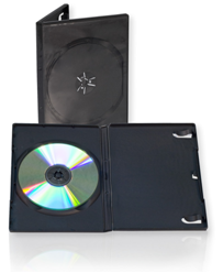 lighter stock black dvd cases