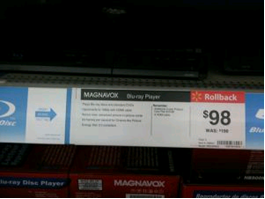Magnavox Blu-Ray Player Low Price $98