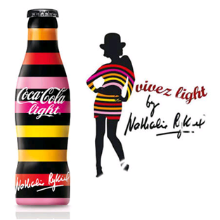 Custom Packaging Coke Bottles Stripes