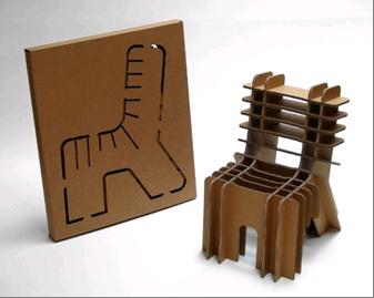 Repurposed Packaging Cardboard Chair