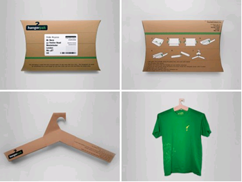 Repurposed Packaging Cardboard Hanger
