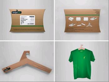 Repurposed Packaging Cardboard Hanger