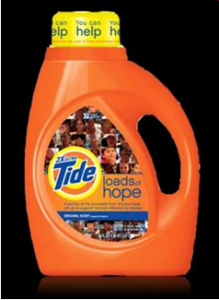 Tide Loads of Hope Custom Packaging for Cause Marketing