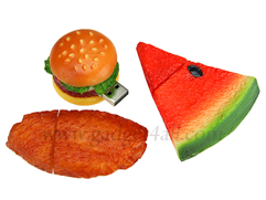 unique-usb-drives-food-burger-watermelon