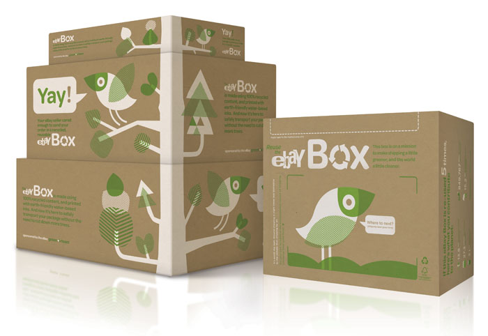 ebay promotes green packaging with eco boxes the