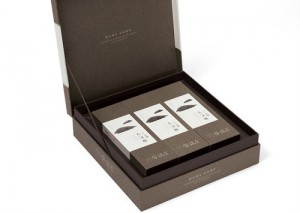 luxury brand packaging with flip lid