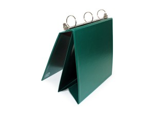 Custom Vinyl Easel Binder with EZ open three ring metal