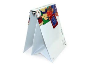 High Quality Custom Turned Edge Easel Binder with full color offset printing