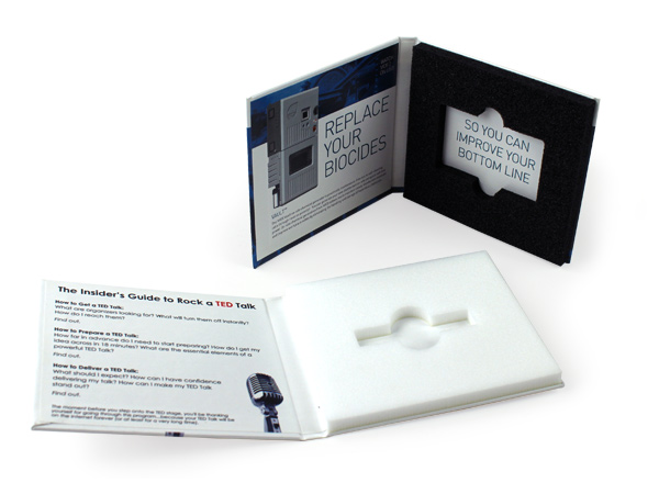 Standard Foam insert inside of custom flash drive packaging flashpad