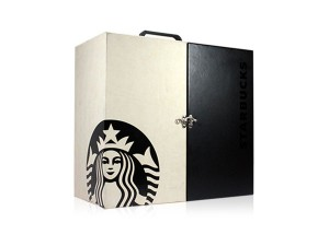 Custom Rigid launch kit for Starbucks with silk screening and handle