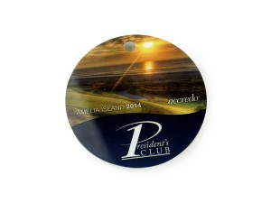Custom Circular Shaped Luggage Tag, Custom shaped Name badges and luggage tags.