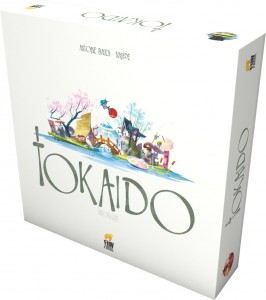 tokaido game box design featuring a rigid telescope box