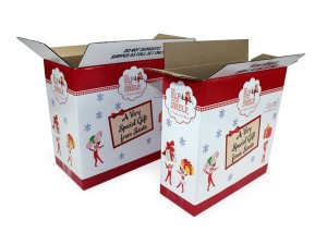 Elf on the Shelf custom boxes, corrugated cardboard, b-flute