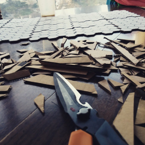 post-consumer corrugated cardboard for custom board games and puzzles