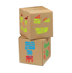 box bot, eco friendly idea for post-consumer corrugated cardboard