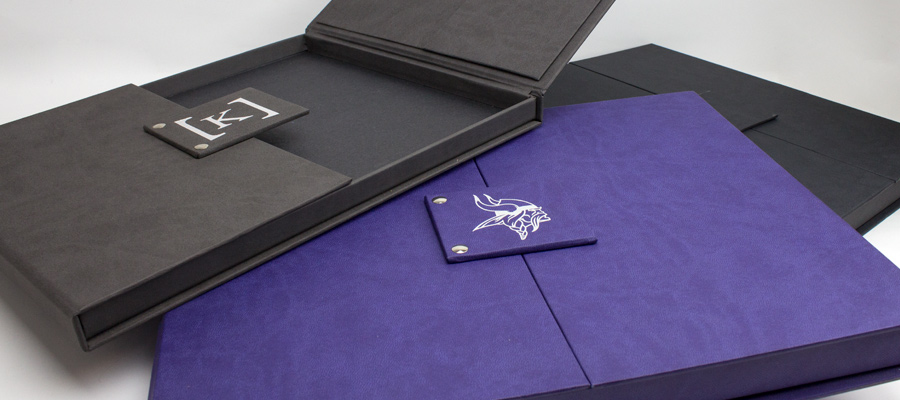 Custom Gate Fold Boxes featuring foil stamp on soft touch nuba material