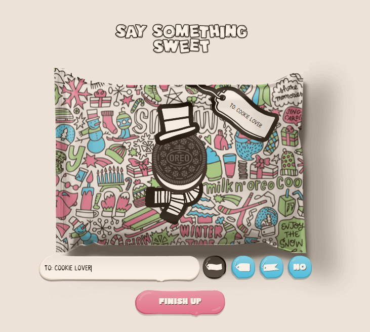 say something sweet custom oreo cookie packaging