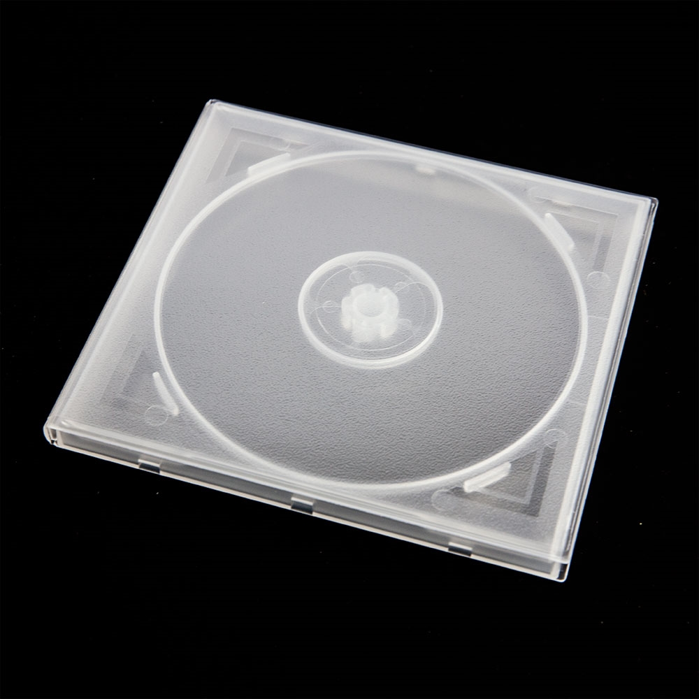 clear single disc poly case 10 4mm