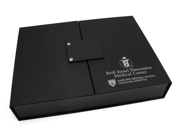 Harvard Medical School Gate Fold Box with Foil Stamping