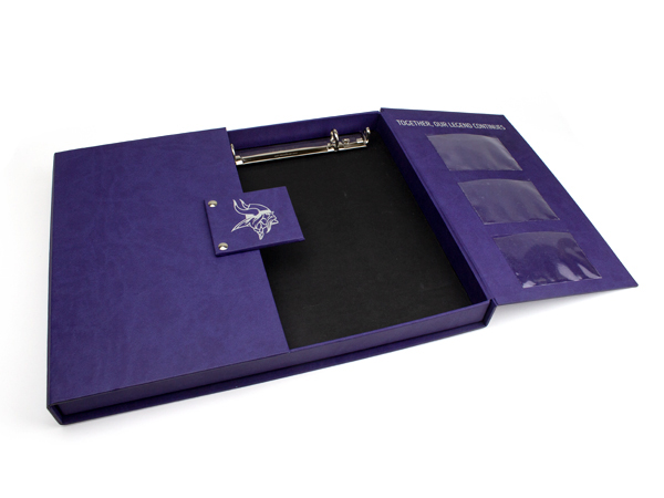 Minnesota Vikings Gate Fold Box with Foil Stamp