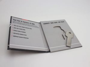 FlashPad Wallets can hold gift cards or USB Drives