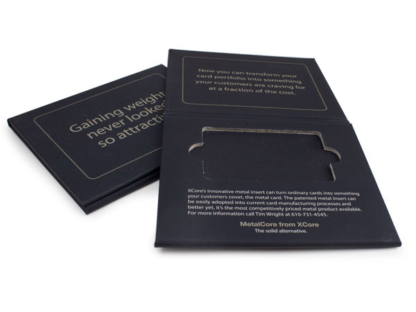 Turned Edge Die-Cut Folders, Giftcard Packaging