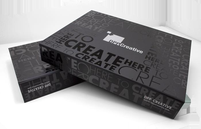 packaging customization Brand box for Creative agency marketing kit